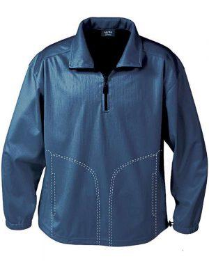 Bonded Jersey Men's 1/4 Zip Windshirt (with Pockets)