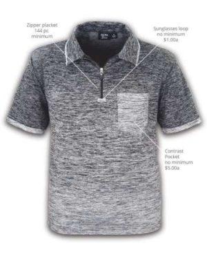 Men's Ombre Zip Polo