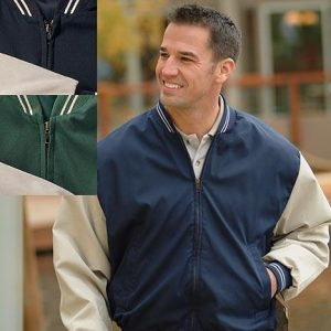 Fenway Poplin Baseball Jacket