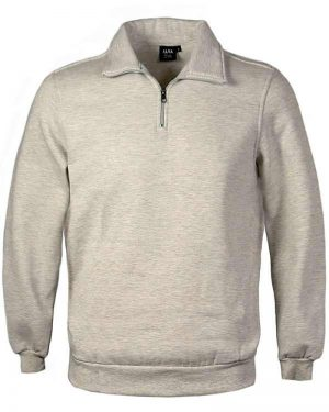 Cotton Polyester Fleece men's 1/4 Zip Sweatshirt