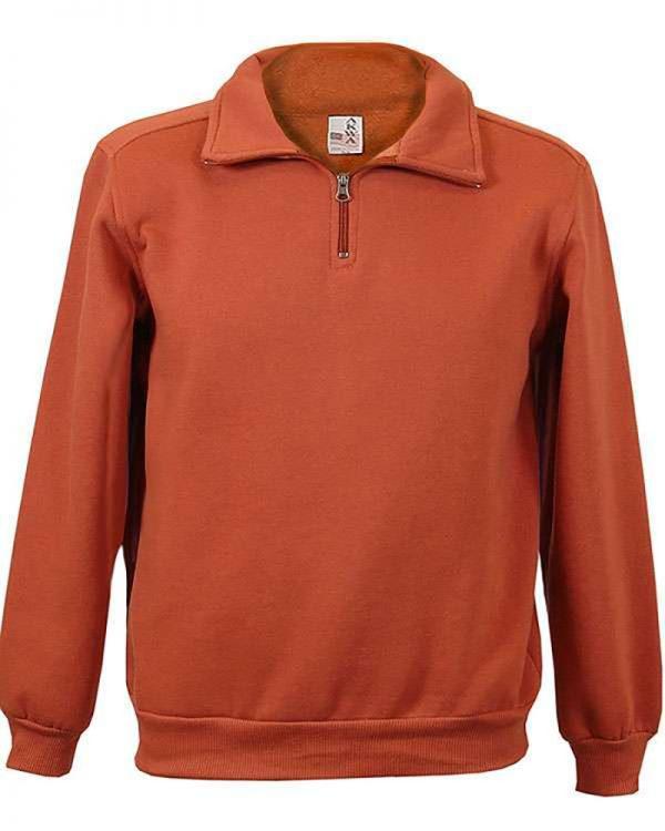 Cotton Polyester Fleece men's 1/4 Zip Sweatshirt