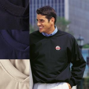 Finley Poplin Golf Pullover