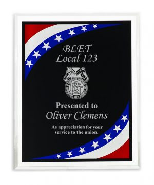 Stars & Stripes Border Clear Plaque