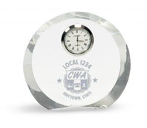 Crystal Plaque Clock