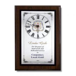 Dark Brown Custom Clock