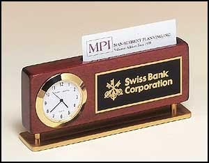 Clock and Cardholder Nameplate
