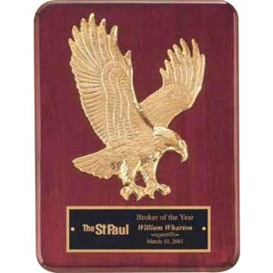 Goldtone Sculptured Eagle Plaque