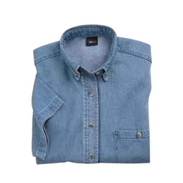 Ladies Short Sleeve Denim Shirt