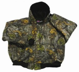 Camo Hooded Quilt Jacket